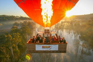 spectacular Hot Air Balloon in flight photo