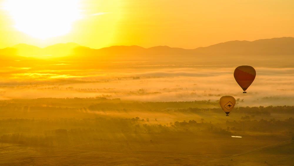 Hot Air balloons over the Atherton Tablelands